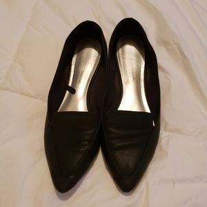 Christian Siriano black flat dress shoes